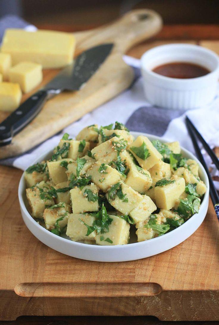 Burmese Tofu Salad with Sesame and Cilantro   Girl Cooks World