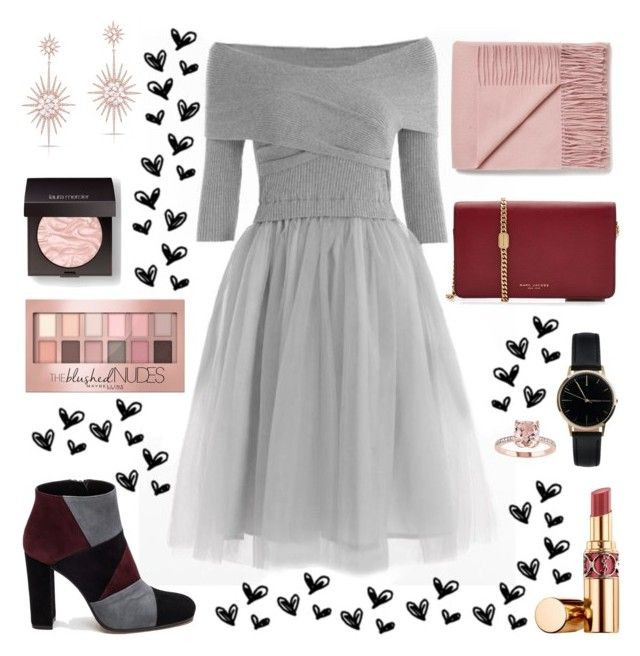 """Winter Dresses"" by apollinariya-664 ❤ liked on Polyvore featuring Roberto Festa, Marc Jacobs, Freedom To Exist, Anne Sisteron, Yves Saint Laurent, Laura Mercier, Maybelline, YSL and dresses"