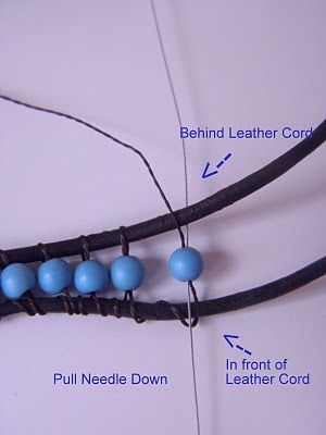 Tutorial: Chan Luu Turquoise Wrap Bracelet