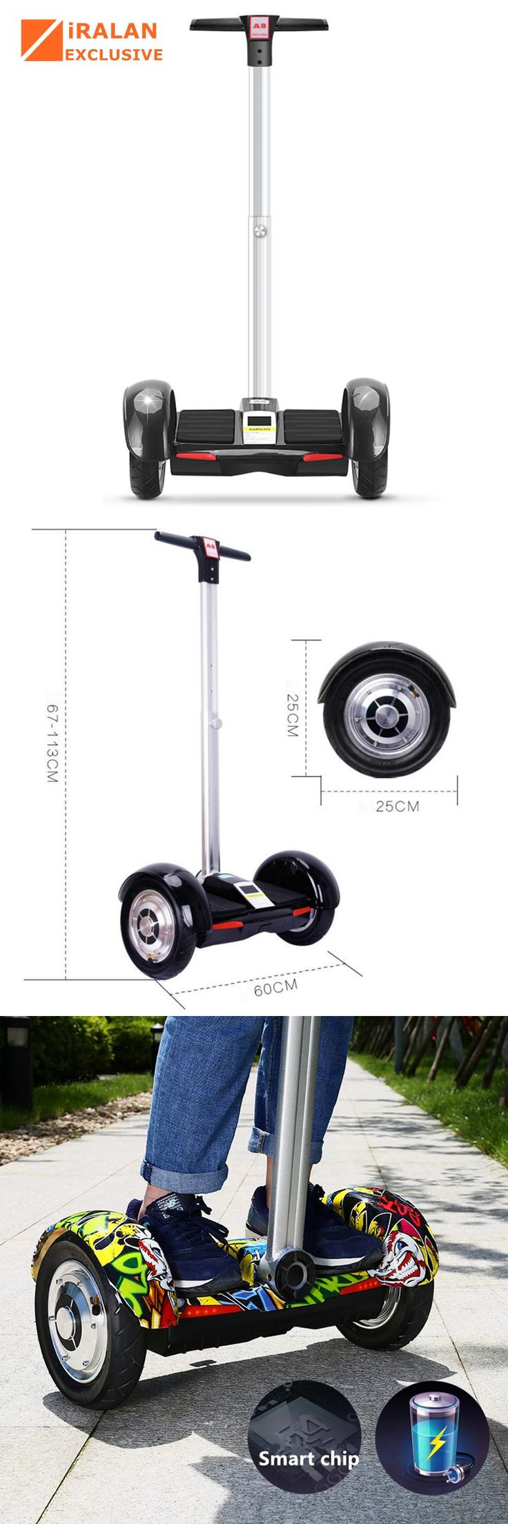 [Visit to Buy] IRALAN A8 10 inch Hoverboard Electric Scooter self Balancing scooter Smart two wheel skateboard With Handle Bluetooth Speaker #Advertisement