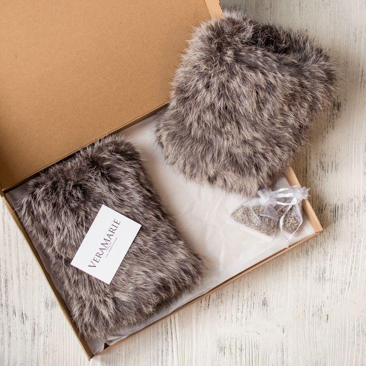 Rabbit Genuine Fur Gaiters Leg Warmer Gift for Her Present ...
