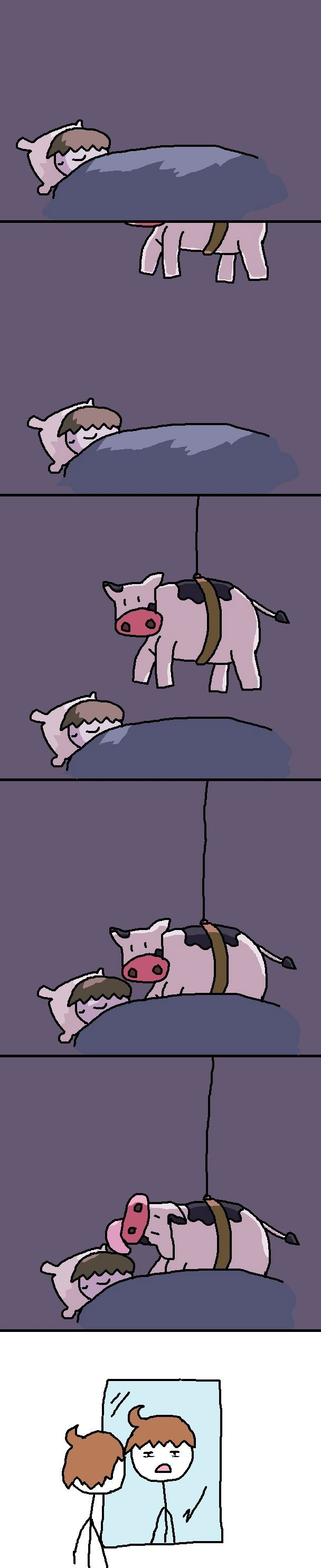 cowlicks. So this is how it happens....every night :/