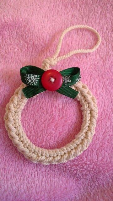 Adorno navideño en crochet, diseñado por Las cosas de Carocha