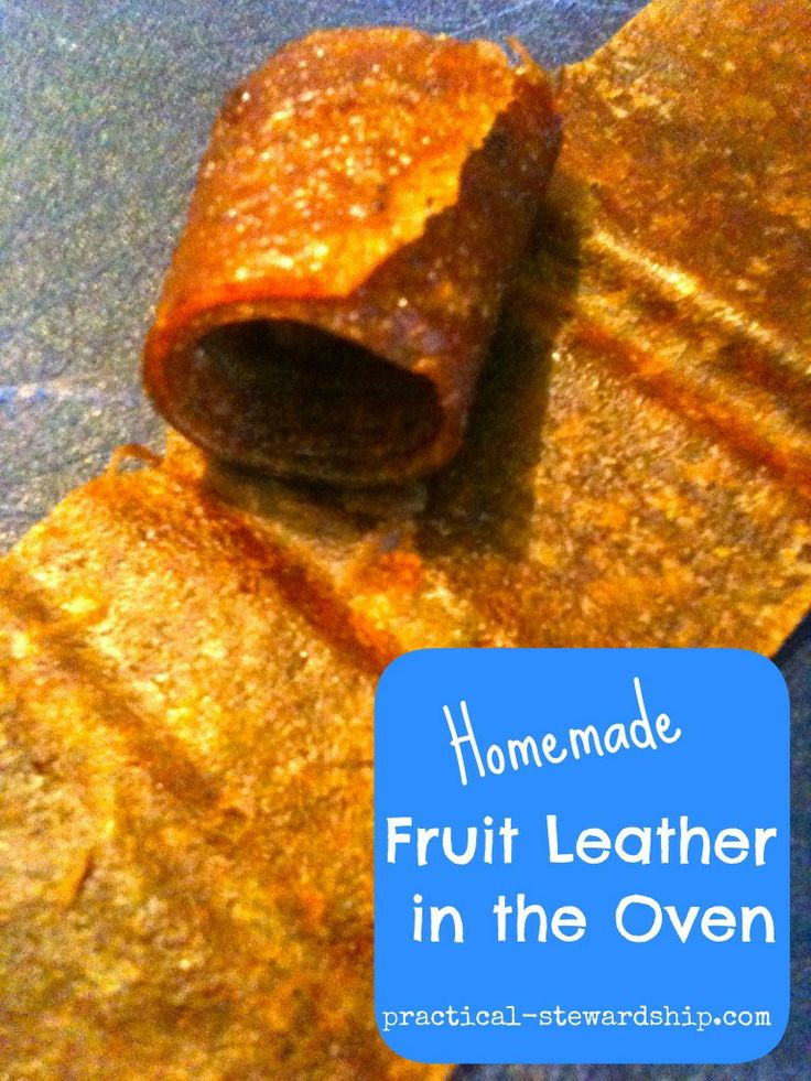 Homemade Fruit Leather in the Oven | Recipe | Homemade ...