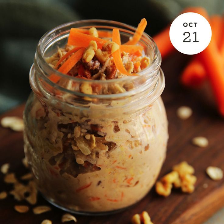 Morning Glory Overnight Oats  INGREDIENTS: • 1/2 Cup Quaker® Oats quick or old fashioned, uncooked) Buy Now • 1/2 Cup lowfat milk • 1/4 Cup Carrot, shredded • 1 Tablespoon maple syrup • 2 Tablespoon walnuts, chopped (optional) • 1/4 Tablespoon...