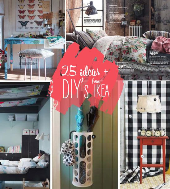 25 ideas, must-haves + DIY's taken from the new 2013 IKEA diy
