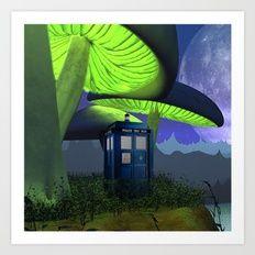 Tardis in the planet of alien Art Print