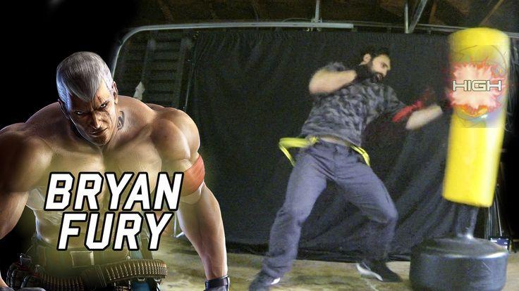 Bryan Fury - Tekken Movelist IRL [Eric Jacobus]