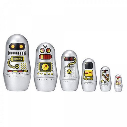 Ingela Arrhenius Robots Nesting Dolls from Smitten for the Wee Generation