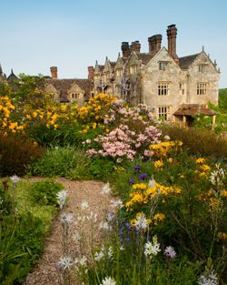 Gravetye Manor, West Sussex, Elizabethan Manor House with world renowned historic garden created by William Robinson.