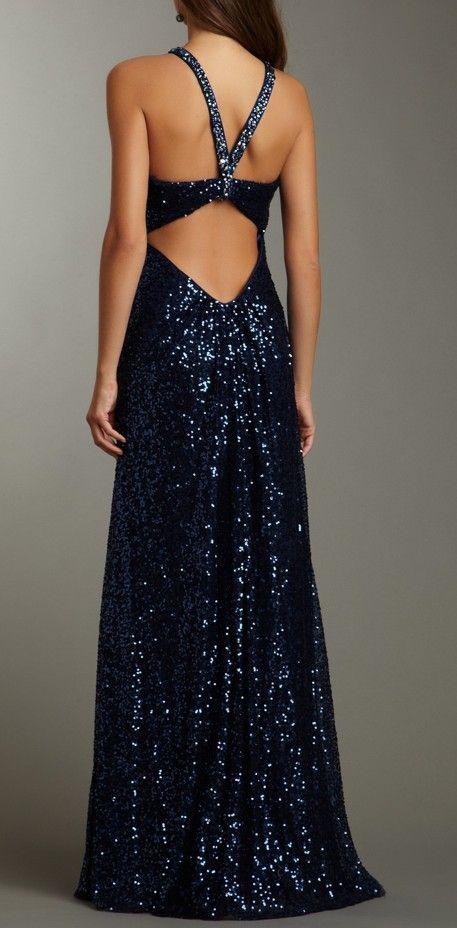 Midnight Sequin Gown / La Femme