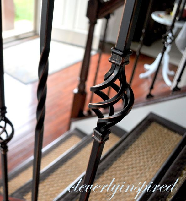 DIY Iron Spindles for a Staircase! This is what mom wants...