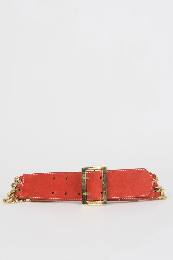 6fdd7428b1baa DSQUARED2 D2 New Woman Red Suede Leather Chain Wide Belt Size M  386 MADE  ITALY  fashion  clothing  shoes  accessories  womensaccessories  belts  (ebay link)