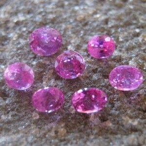 7 Pcs Safir Pink Micro Setting 1.54 carat