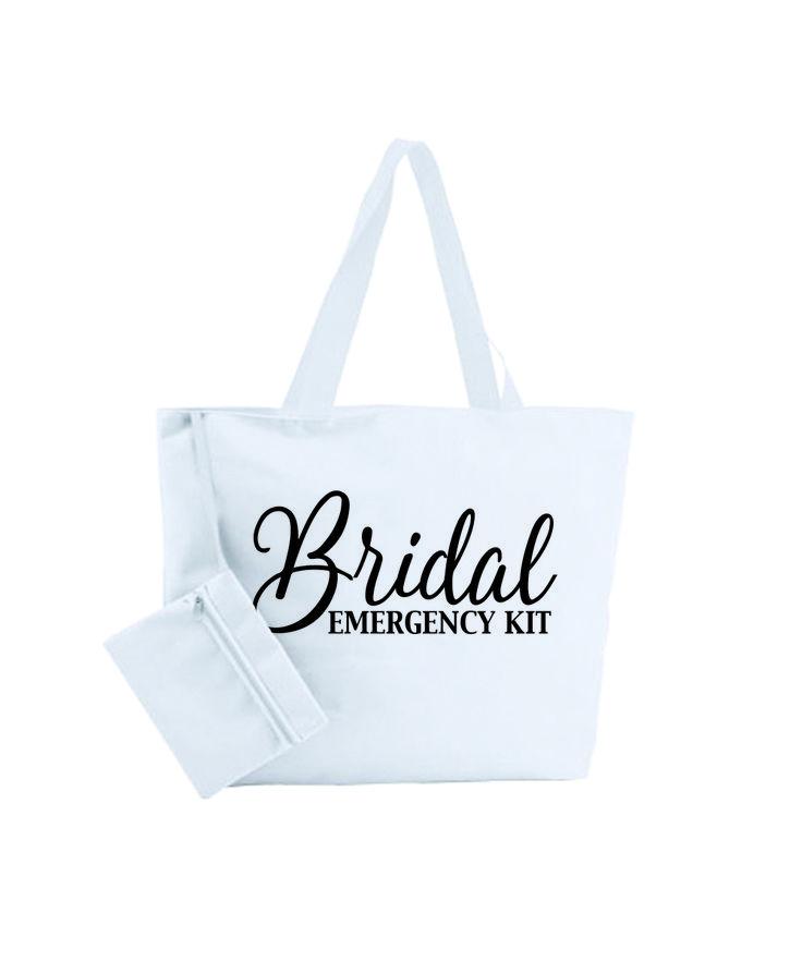 noodtas voor je bruiloft, bridal emergency kit, voor al je spulletjes, die je kunnen redden in de nood:)