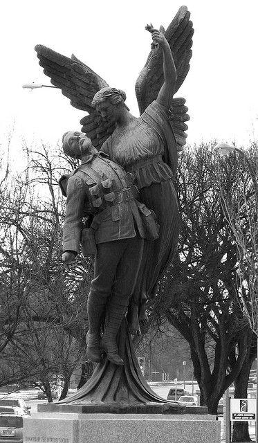 Winged Angel taking an fallen soldier to heaven