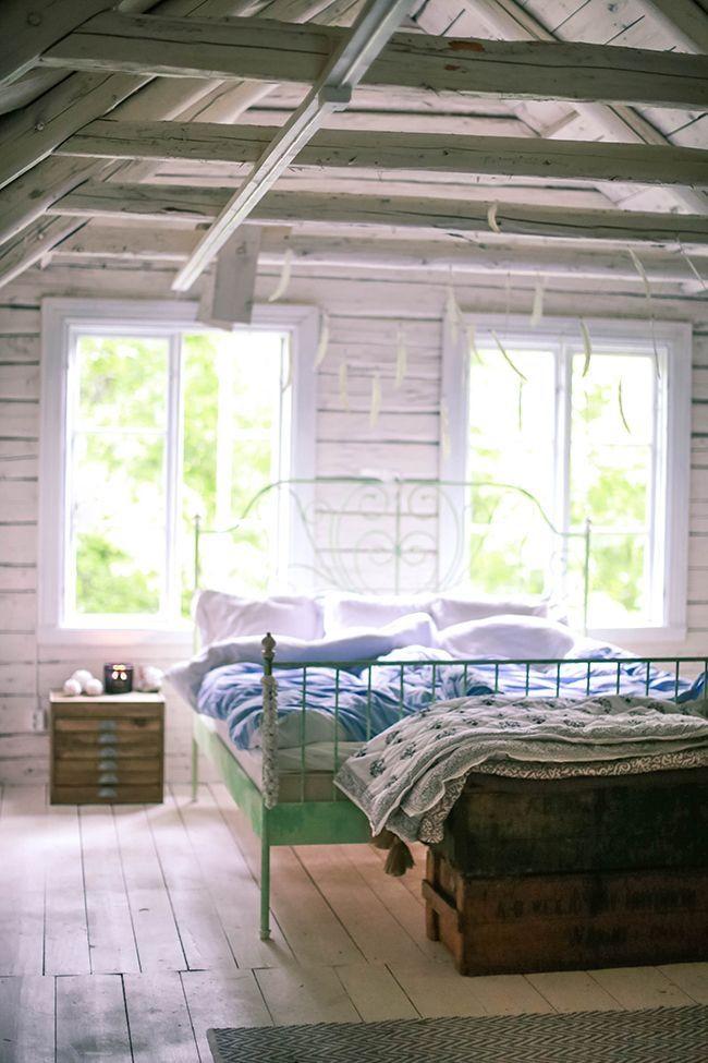 "oldfarmhouse: "" Attic Bedroom http://pin.it/AhGJ-Dn """
