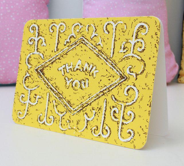 Thank You Custard Cream Biscuit card £2.40 #folksyfriday