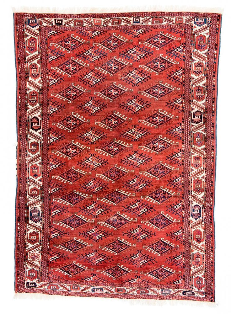Yomud Main Carpet Turkmenistan Um 1870 9ft 1in X 6ft 4in