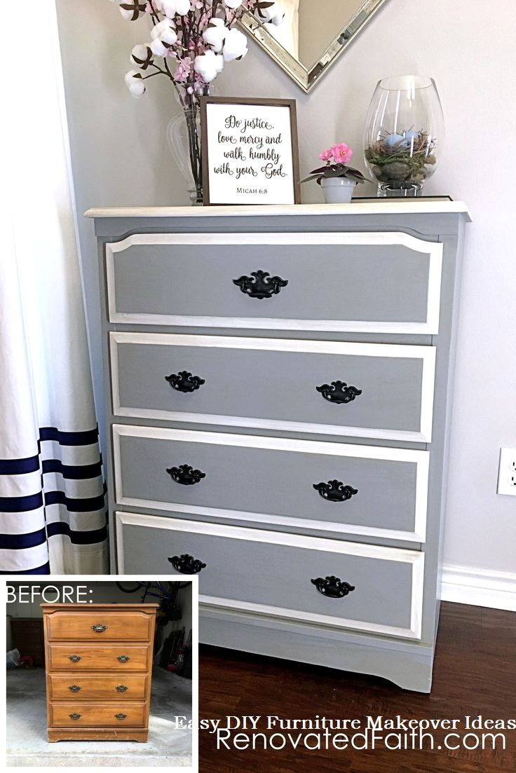 22 Amazing Ways to Turn Old Furniture into New Beautiful Things Through DIY Tricks: 2 an old cabinet into a storage space   – Kommode