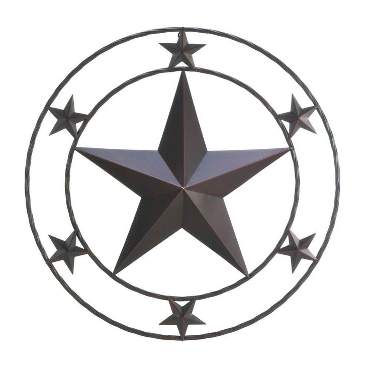 Rustic Metal Texas Star Western Wall Decor