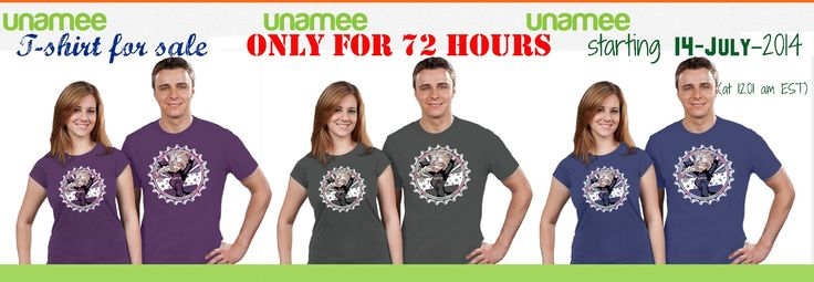 My Frozen tshirt design in sale in UNAMEE.com  LIMITED EDITION - Only for 72 Hours!!! starting 14-July-2014 (at 12.01 am EST). Cheap price, 11$ plus shipping. 3 color shirt available. DON'T LET IT GO!!! ;)