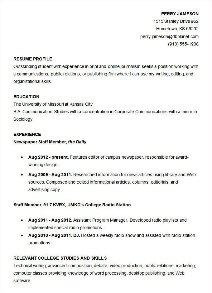 Resume Template For College Student Special Microsoft Word Resume Template 49 Free Samples O Student Resume Template Job Resume Samples Sample Resume Templates