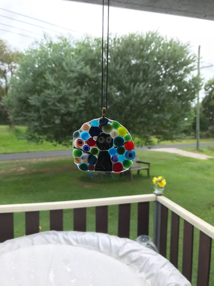 Peacock suncatcher