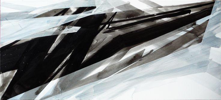 """Negative 2"" / acrylics on canvas"