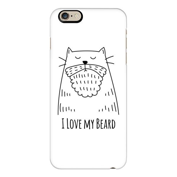 iPhone 6 Plus/6/5/5s/5c Case - For Men - I Love my Beard - Cat - White ($40) ❤ liked on Polyvore featuring men's fashion, men's accessories, men's tech accessories and iphone case