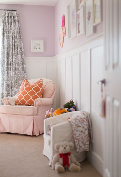 transitional kids by FreshHouse.  I love the wainscotting!