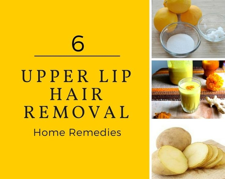 how to get rid of upper lip hair diy