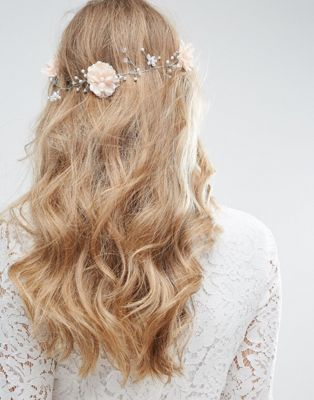 ASOS Wedding Crystal Flower Back Hair Clip