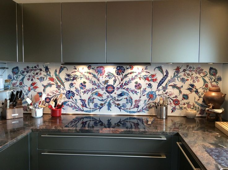 Interior :  backsplash for a kitchen