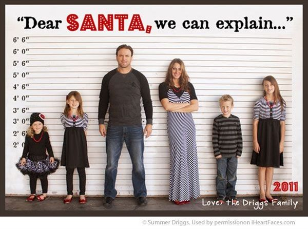 With the growing popularity of photo Christmas cards, you may be wondering how to make your holiday card stand out from all the others your friends and family will receive this year.  Whether you plan to set the photo up yourself or hire a photographer to capture a family portrait for you, here are some funny and cute ideas to get you thinking...