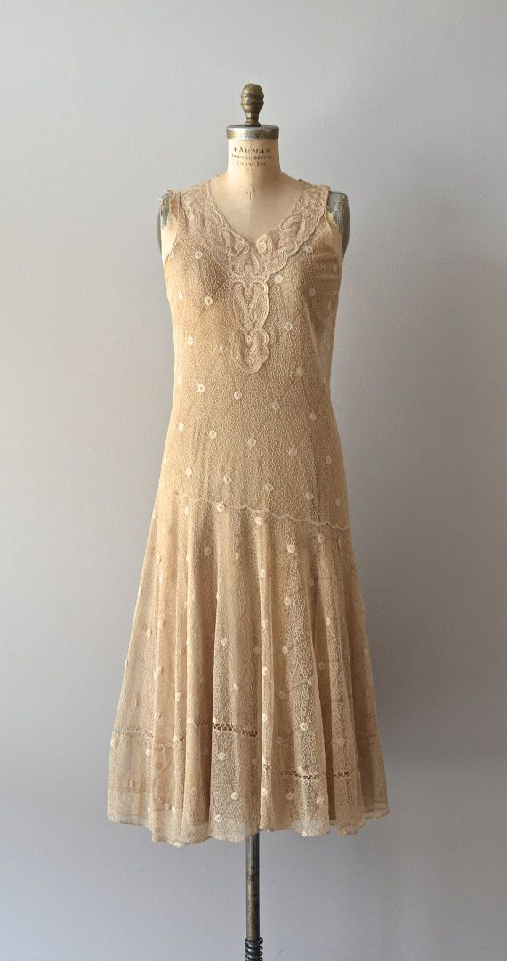 Viralei lace dress /  vintage 1920s dress / lace 20s by DearGolden, $585.00