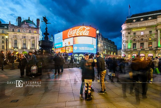 """""""Motion"""" Piccadilly Circus, London, UK. Image by David Gutierrez Photography, London Photographer. London photographer specialising in architectural, real estate, property and interior photography. http://www.davidgutierrez.co.uk #realestate #property #commercial #architecture #London #Photography #Photographer #Art #UK #City #Urban #Beautiful #Interior #Arts #Cityscape #Travel #Building #Night #Twilight #Street #PiccadillyCircus"""