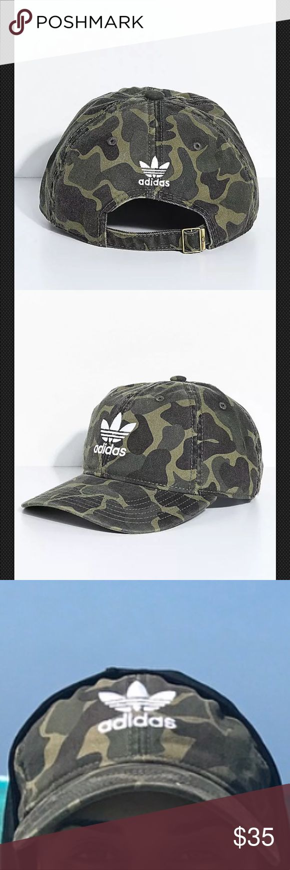 ADIDAS Originals Hat - Adidas Camouflage Hat - NWT Camo Dad Hat from adidas NEW WITH TAGS  Women's ADIDAS Originals Hat - Adidas Camouflage Hat - NWT  Trendy and comfortable, adidas presents the Camo dad hat for women. With a women's specific fit, this camo pattern hat has adjustable strapback sizing for a comfortable fit. The unstructured six panel crown is finished with a white logo graphic embroidered on the front.  Please note: due to lighting item may look slightly different color wise…