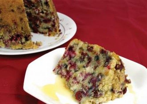 Partridgeberry Pudding with Rum Sauce Newfoundland Recipe. Cookbook of Traditional Newfoundland Meals by Newfoundland.ws