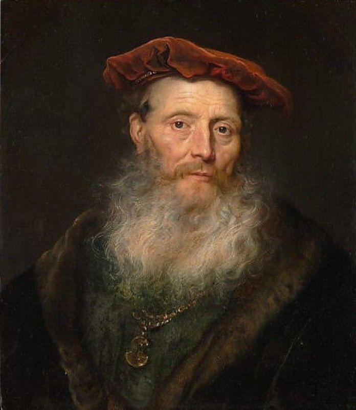 Govaert Flinck, Man met baard en fluwelen baret, 1645, olieverf op paneel, 60.3 x 52.4 cm, Metropolitan Museum of Art, New York http://www.artsalonholland.nl/barok-nederland/flinck-man-met-baard-en-fluwelen-baret