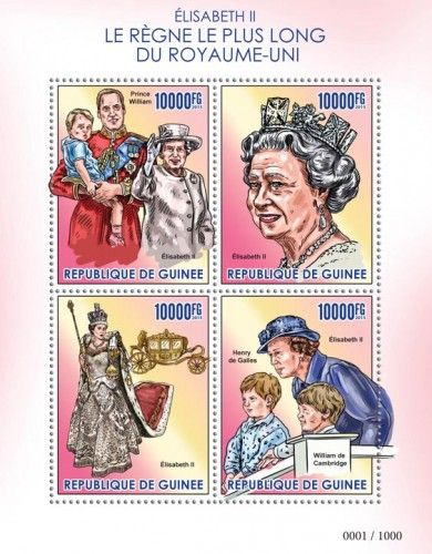 GU15425a The longest reigning Queen Elizabeth II (Prince William, Henry of Wales, William of Cambridge)