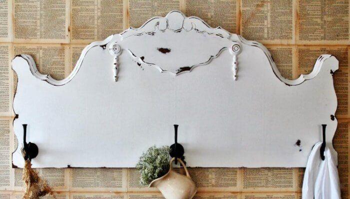 Porte Manteau Mural Vintage A Fabriquer 25 Idees Originales Porte Manteau Mural Tete De Lit Antique Vieille Tete De Lit