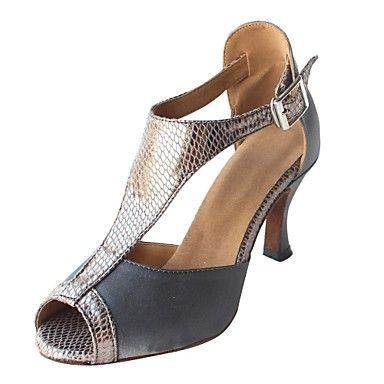 Customized+Woman's+Purple+Satin+Latin+Dance+Shoes(More+Colour)+–+EUR+€+27.43