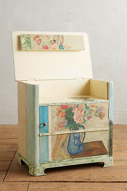 Handpainted Musee Cabinet