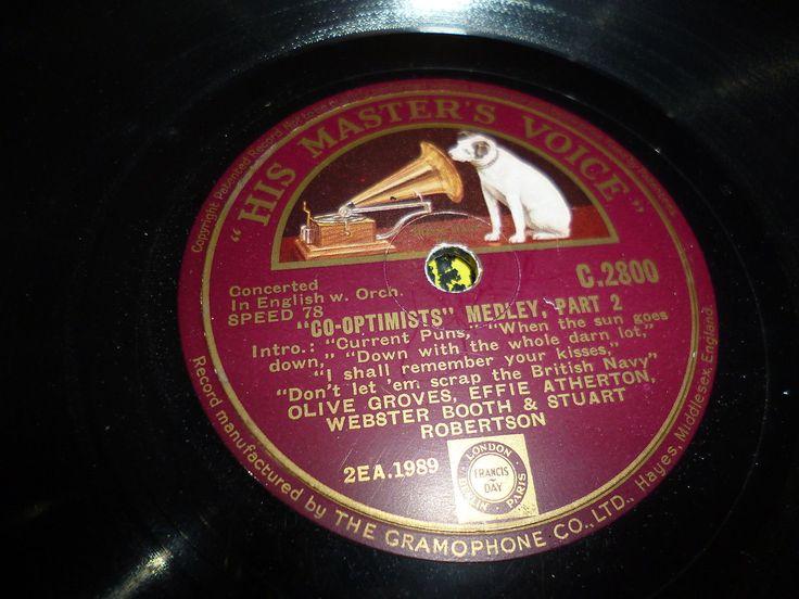 "V/A Co-optimists Medley - Part 1& 2 78 12"" HMV C2800 G133"