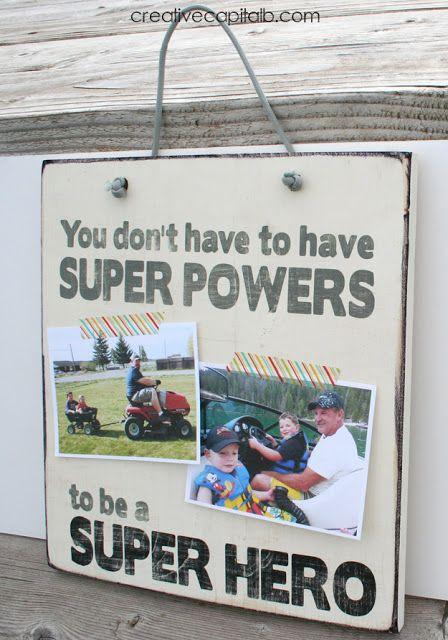 Everyday Super Hero Photo Display