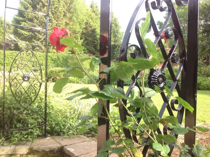 Rose arch detail.