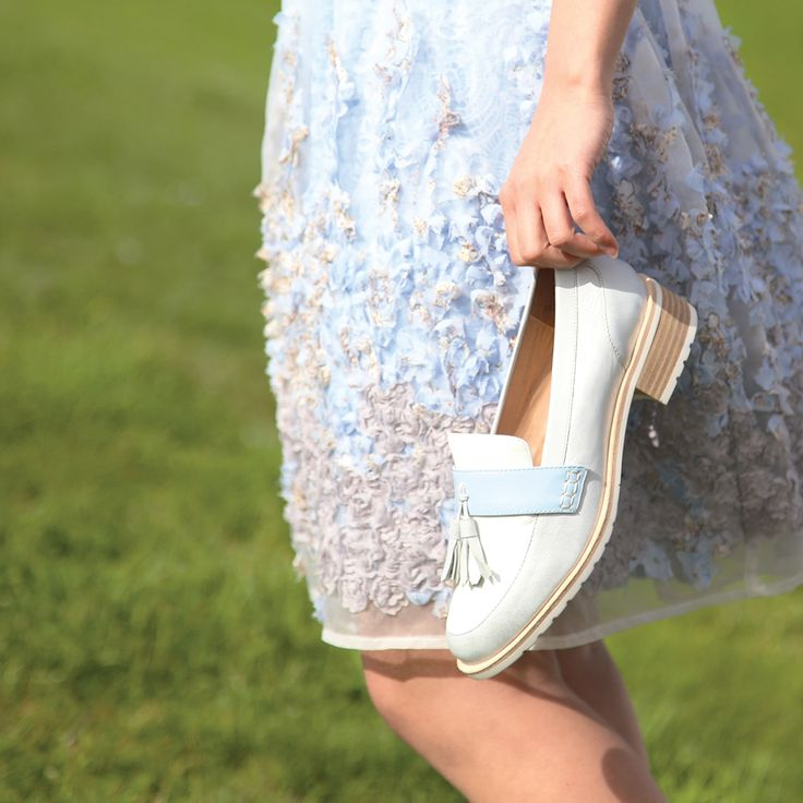 BLUE HUES 💙 💙 💙   Get pastel perfect tones with the Miss Sofie 'Skylar' loafers. Shop: https://tinyurl.com/ya9lv3jz