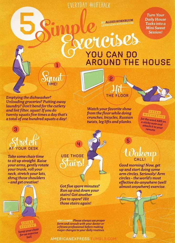 5 Simple Exercises You Can Do Around The House