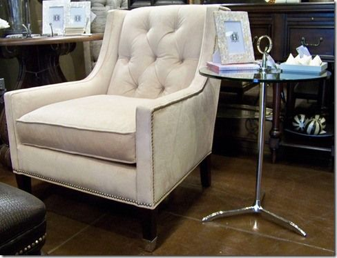 Whatu0027s New Wednesday: Tufted Chair. White VelvetTufted ...